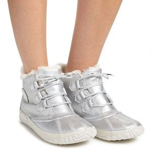 Disney Frozen Sorel Out 'N About Boots Silver NEW
